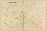 Cambridge Ward 1 Cambridge Common Plate 1, 1886 - Old Street Map Reprint -Cambridge 1886 Atlas