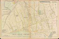 Cambridge Ward 1 Fresh Pond Plate 5, 1886 - Old Street Map Reprint -Cambridge 1886 Atlas