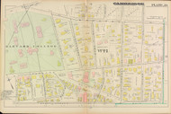 Cambridge Ward 1 Harvard Plate 13, 1886 - Old Street Map Reprint -Cambridge 1886 Atlas