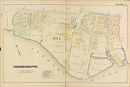 Cambridge Ward 1 Plate 2, 1886 - Old Street Map Reprint -Cambridge 1886 Atlas