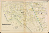 Cambridge Ward 1 Plate 14, 1886 - Old Street Map Reprint -Cambridge 1886 Atlas