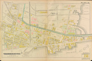 Cambridge Ward 3 Plate 24, 1886 - Old Street Map Reprint -Cambridge 1886 Atlas