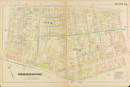 Cambridge Wards 3 Plate 22, 1886 - Old Street Map Reprint -Cambridge 1886 Atlas