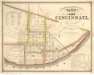 Cincinnati 1841 Doolittle & Munson - Old Map Reprint - Ohio Cities