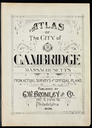 Title Page, 1930 - Old Street Map Reprint -Cambridge 1930 Atlas
