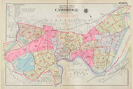 Cambridge Index Map, 1930 - Old Street Map Reprint -Cambridge 1930 Atlas