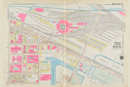 Cambridge Ward 1 B&M Yard Plate 11, 1930 - Old Street Map Reprint -Cambridge 1930 Atlas