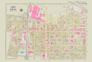 Cambridge Ward 1 Cambridge Street Plate 12, 1930 - Old Street Map Reprint -Cambridge 1930 Atlas