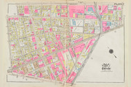 Cambridge Ward 2 Main Street Plate 7, 1930 - Old Street Map Reprint -Cambridge 1930 Atlas