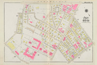 Cambridge Ward 7 Harvard Plate 19, 1930 - Old Street Map Reprint -Cambridge 1930 Atlas