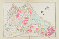 Cambridge Ward 8 Common Plate 21, 1930 - Old Street Map Reprint -Cambridge 1930 Atlas