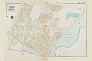 Cambridge Ward 9 Cushing Street Plate 33, 1930 - Old Street Map Reprint -Cambridge 1930 Atlas