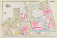 Cambridge Wards 1 & 2 Plate 9, 1930 - Old Street Map Reprint -Cambridge 1930 Atlas
