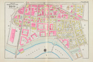Cambridge Wards 4,6,7 & 8 Harvard Plate 17, 1930 - Old Street Map Reprint -Cambridge 1930 Atlas