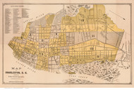 Charleston 1891 Simons & Huger - Old Map Reprint - South Carolina Cities