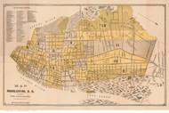 Charleston 1891 Simons & Huger - Old Map Reprint - South Carolina Cities