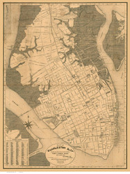 Charleston 1901 Gormley - Old Map Reprint - South Carolina Cities