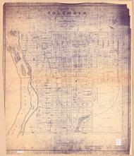 Columbia 1850 (1912) Arthur & Moore - Old Map Reprint - South Carolina Cities
