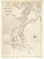Dawfoskee River Sound 1773 - (Hilton Head) - Old Map Reprint - South Carolina Cities