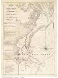 Dawfoskee River Sound 1773 - (Hilton Head) - Old Map Reprint - South Carolina Cities