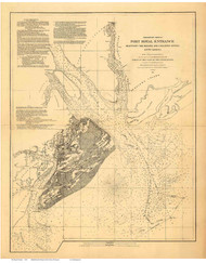 Port Royal  1862 USCS - Old Map Reprint - South Carolina Cities