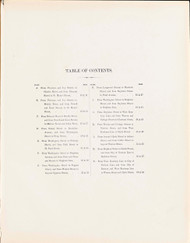 Table of Contents--Streets, 1874 - Old Street Map Reprint -  -Brookline 1874 Atlas