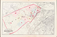 Brookline Index Map, 1874 - Old Street Map Reprint -  -Brookline 1874 Atlas