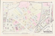 Brookline Plate D Harvard Street, 1874 - Old Street Map Reprint - Brookline Branch Rail Road, Town Hall, Public Library, Schools, Town Park -Brookline 1874 Atlas