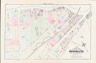 Brookline Plate G Boylston Street, 1874 - Old Street Map Reprint - New York & New England Rail Road, Walnut Street, Cypress Street -Brookline 1874 Atlas