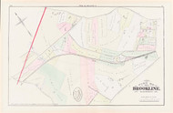 Brookline Plate I Beacon Street, 1874 - Old Street Map Reprint - Washington Street, Tappan Street, Cypress Street, New York & New England Rail Road -Brookline 1874 Atlas