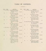 Cambridge Table of Contents, 1873 - Old Street Map Reprint -Cambridge 1873 Atlas