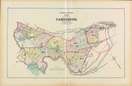Cambridge Index Map, 1873 - Old Street Map Reprint -Cambridge 1873 Atlas
