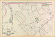 Cambridge Ward 1 Fresh Pond Plate D, 1873 - Old Street Map Reprint -Cambridge 1873 Atlas