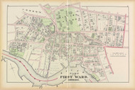 Cambridge Ward 1 Harvard Plate A, 1873 - Old Street Map Reprint -Cambridge 1873 Atlas