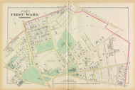 Cambridge Ward 1 Harvard Plate B, 1873 - Old Street Map Reprint -Cambridge 1873 Atlas