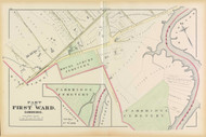 Cambridge Ward 1 Plate E, 1873 - Old Street Map Reprint -Cambridge 1873 Atlas