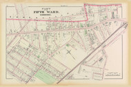 Cambridge Ward 5 Plate G, 1873 - Old Street Map Reprint -Cambridge 1873 Atlas