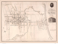 Fayetteville 1825  - Old Map Reprint - North Carolina  Cities