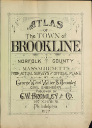 Title Page, 1927 - Old Street Map Reprint -  -Brookline 1927 Atlas