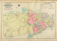 Brookline Index Map, 1927 - Old Street Map Reprint -  -Brookline 1927 Atlas