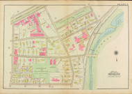 Plate 3, Kent Street, 1927 - Old Street Map Reprint - Longwood Square, Longwood Playground, Longwood Avenue -Brookline 1927 Atlas