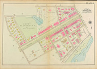 Plate 4, Beacon Street, 1927 - Old Street Map Reprint - Amory Playground, Hall's Pond, Boston Town Line -Brookline 1927 Atlas