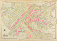Plate 10, Beacon Street, 1927 - Old Street Map Reprint - Washington Street, Winthrop Road, University Road, Beaconsfield Hotel -Brookline 1927 Atlas