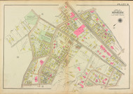 Plate 16, Cypress Street, 1927 - Old Street Map Reprint - Brookline Cemetery, Clark Playground, Boylston Street, Walnut Street, Philbrick Square, Town Stable -Brookline 1927 Atlas