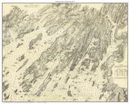 Harpswell 1872 - Maine Harbors Custom Chart