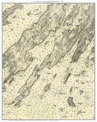Orrs Island and Bailey Island 1872 - Maine Harbors Custom Chart