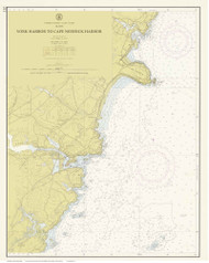 York Harbor to Cape Neddick Harbor 1960 - Maine Harbors Custom Chart
