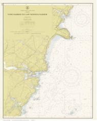 York Harbor to Cape Neddick Harbor 1960 - Maine Harbors Custom Chart