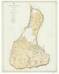 Block Island 4:5 1914 - Rhode Island Harbors Custom Chart