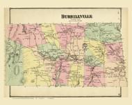 Burrillville, Rhode Island 1870 - Old Town Map Reprint
